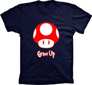 Camiseta Super Mario Grow Up