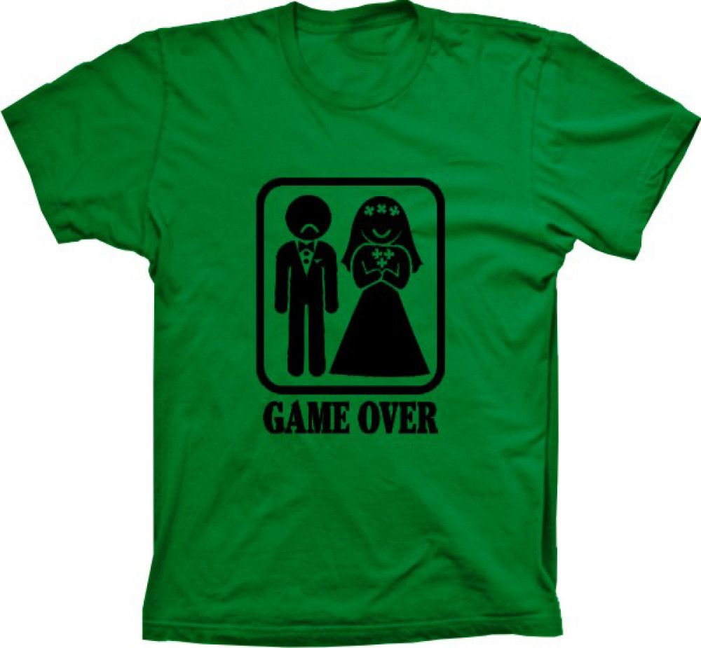 Camiseta Game Over Noivo Triste
