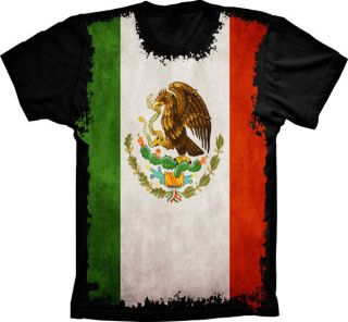 Camiseta Bandeira Do México