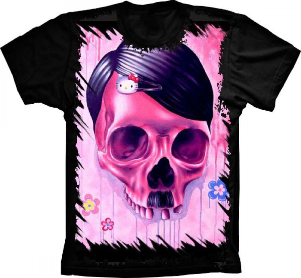 Camiseta Skull Caveira Kitty