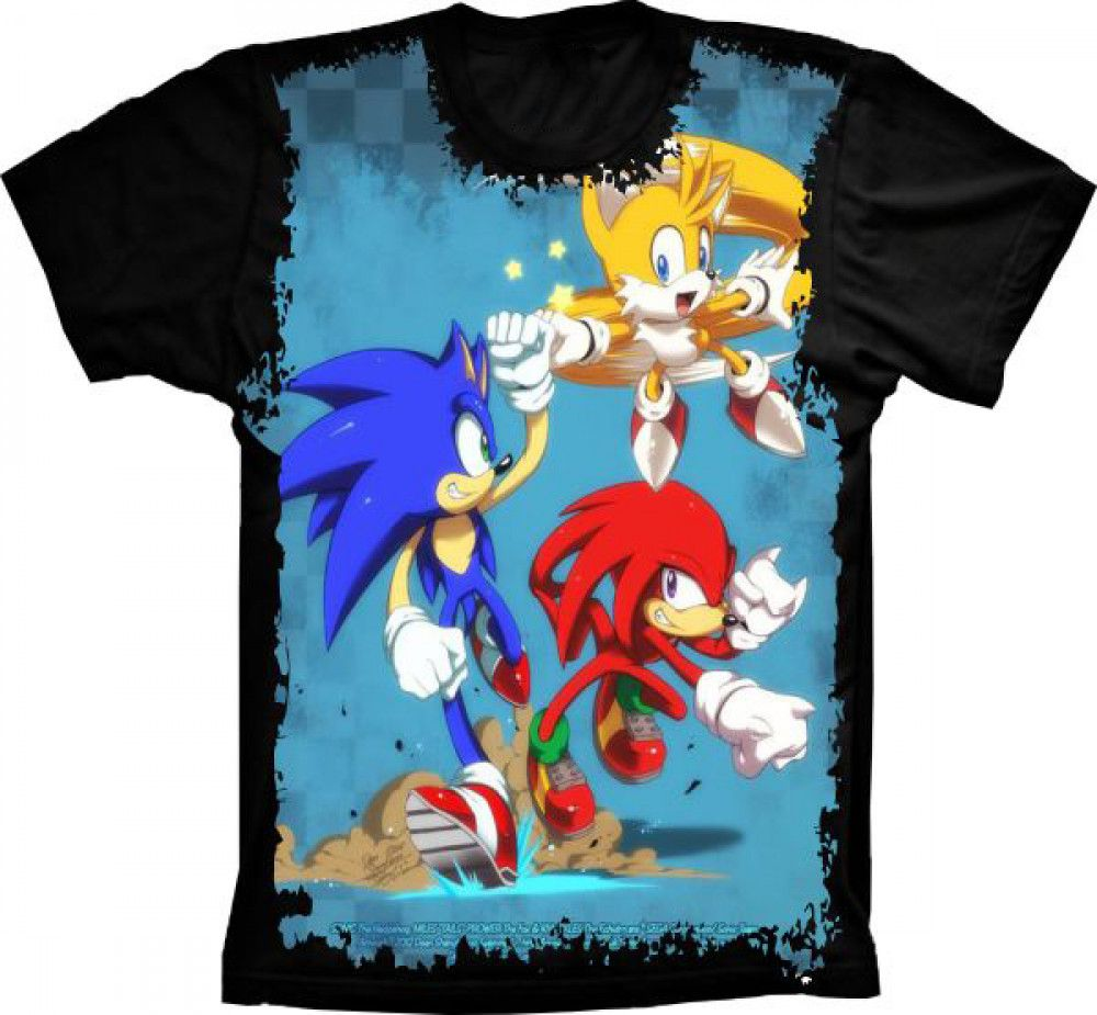 Camiseta Sonic Tails Knuckles