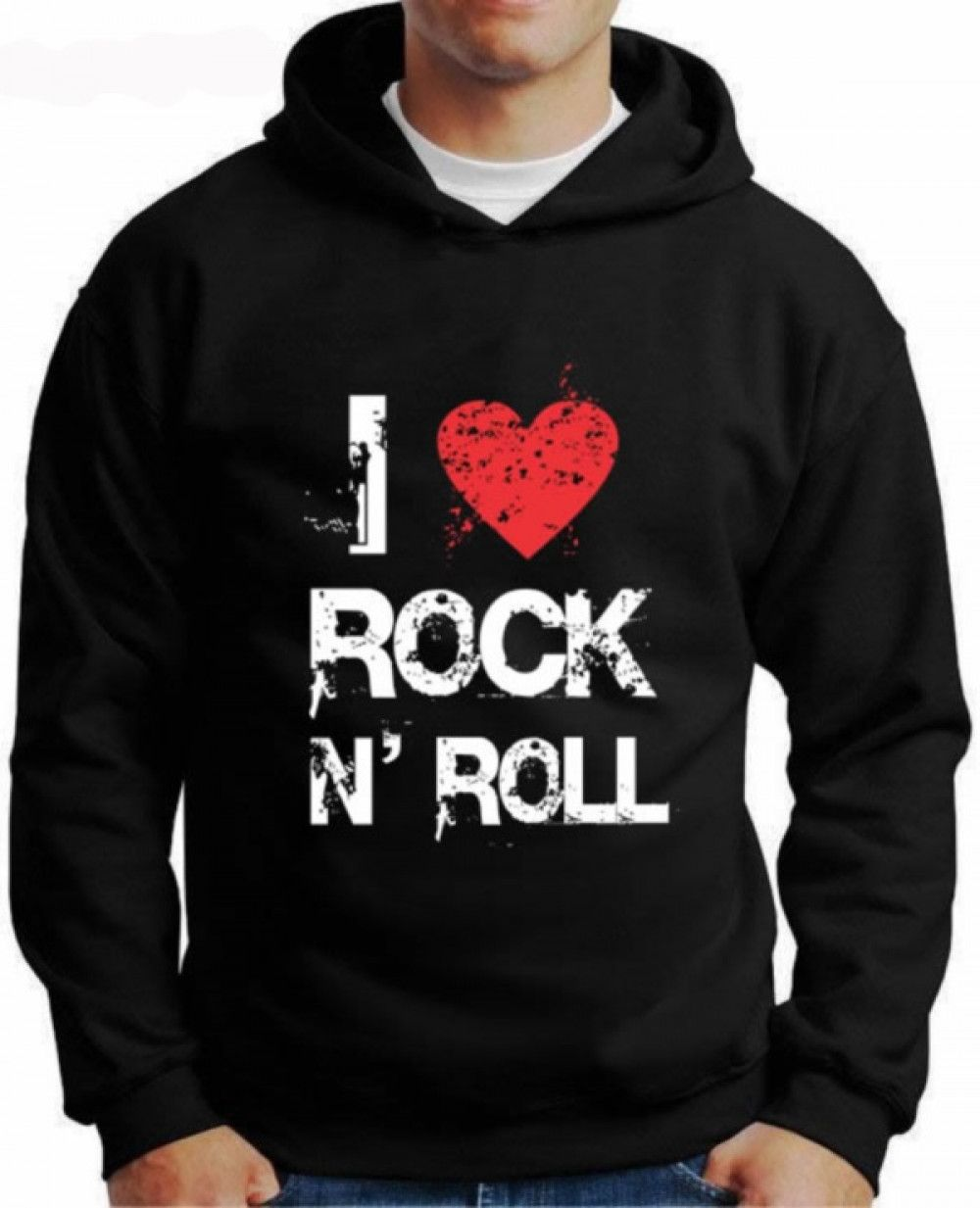 Moletom I Love Rock N'roll
