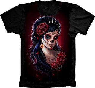 Camiseta Skull Caveira Mexicana Tatoo
