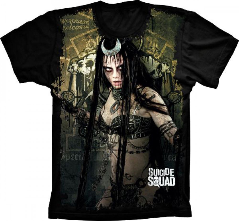 Camiseta Esquadrão Suicida June Moone
