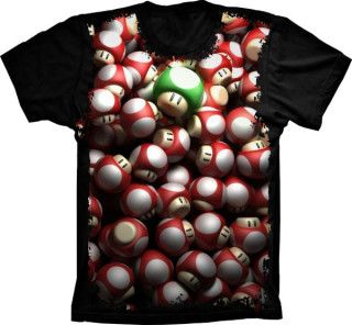 Camiseta Super Mario Grow Up 1Up