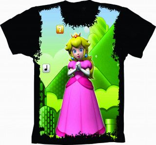 Camiseta Mario Bros Princesa Peach