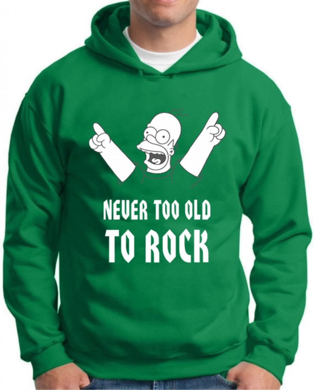 Moletom Simpsons Never Too Old To Rock