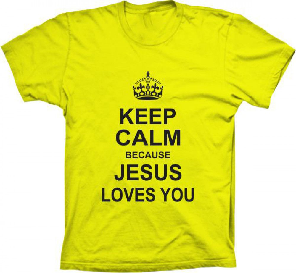 Camiseta Keep Calm Jesus