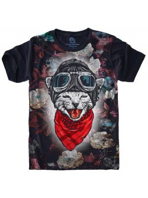 Camiseta Gato Cat Aviador S-422