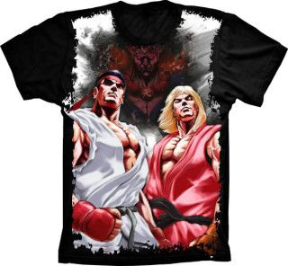 Camiseta Street Fighter Ken e Ryu